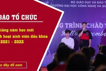 """Thông báo: Về việc tổ chức Lễ khai giảng năm học mới và kế hoạch """"Tuần sinh hoạt sinh viên đầu khóa"""" năm học 2021-2022."""